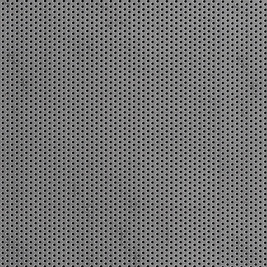 "McNICHOLS® Perforated Metal Round, Carbon Steel, Cold Rolled, 16 Gauge (.0598"" Thick), 1/16"" Round on 1/8"" Staggered Centers, 23% Open Area"