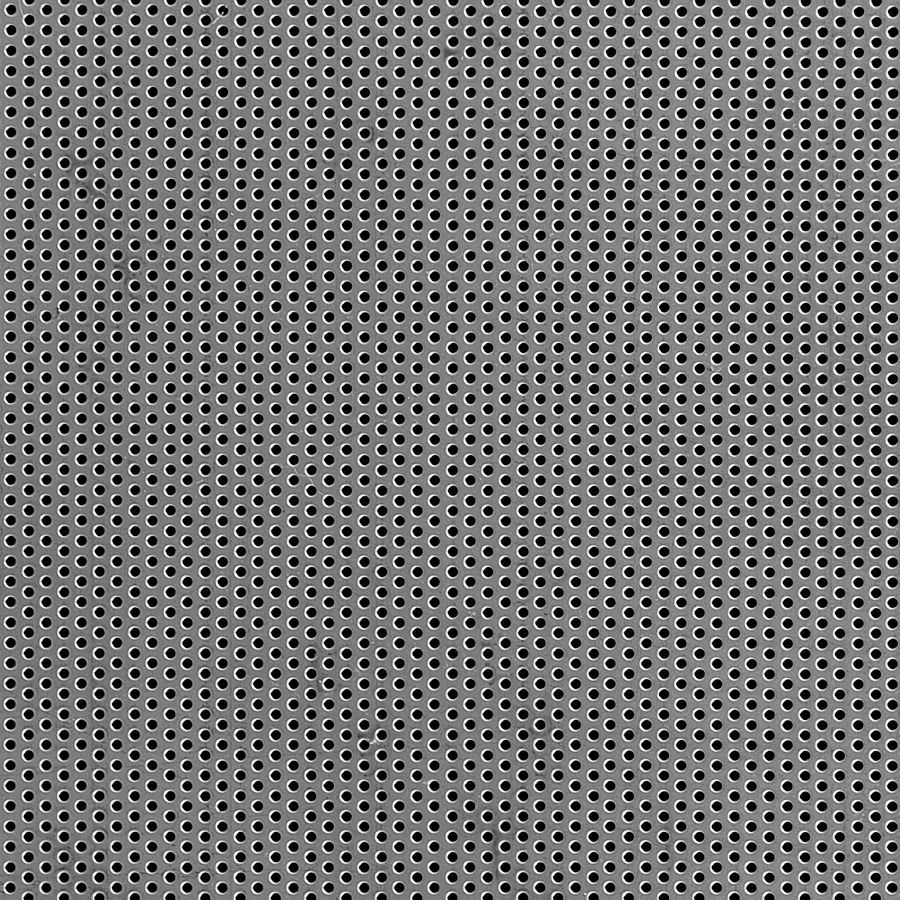 "McNICHOLS® Perforated  Metal Round, Carbon Steel, Cold Rolled, 20 Gauge (.0359"" Thick), 1/16"" Round on 1/8"" Staggered Centers, 23% Open Area"