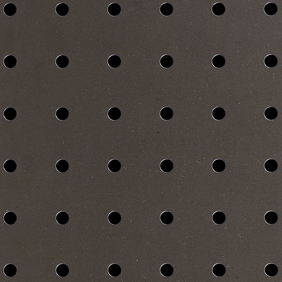 "McNICHOLS® Perforated  Metal Round, Carbon Steel, Cold Rolled, 20 Gauge (.0359"" Thick), 1/4"" Round on 1"" Straight Centers, 5% Open Area"