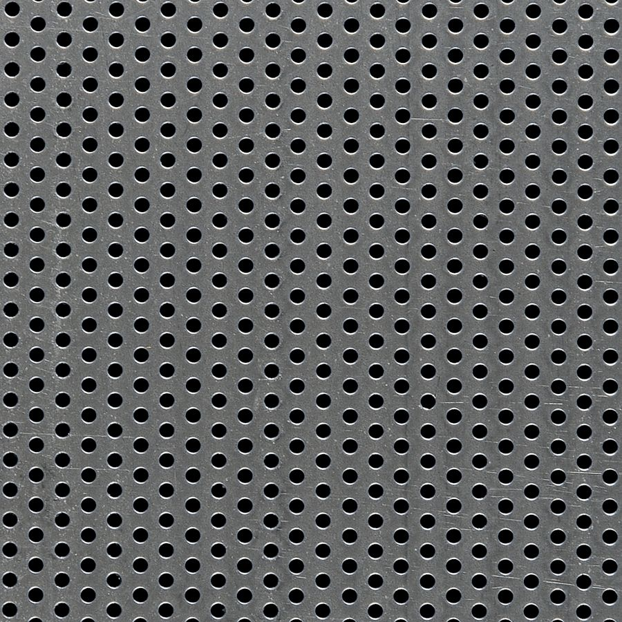 "McNICHOLS® Perforated Metal Round, Carbon Steel, Cold Rolled, 20 Gauge (.0359"" Thick), 1/8"" Round on 1/4"" Staggered Centers, 23% Open Area"