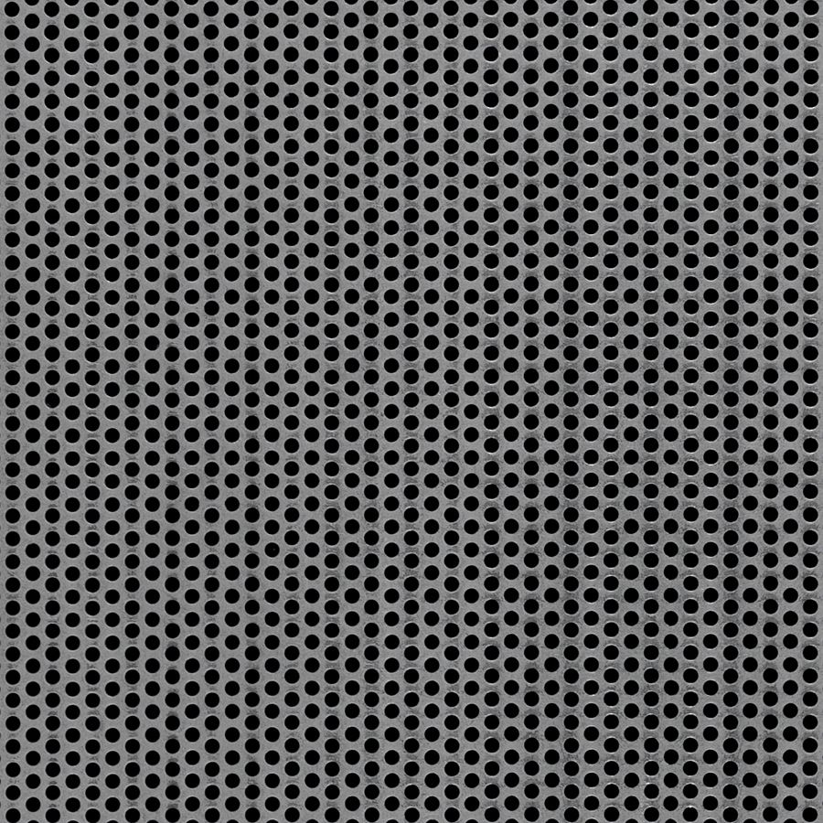 "McNICHOLS® Perforated  Metal Round, Carbon Steel, Cold Rolled, 18 Gauge (.0478"" Thick), 1/8"" Round on 3/16"" Staggered Centers, 40% Open Area"