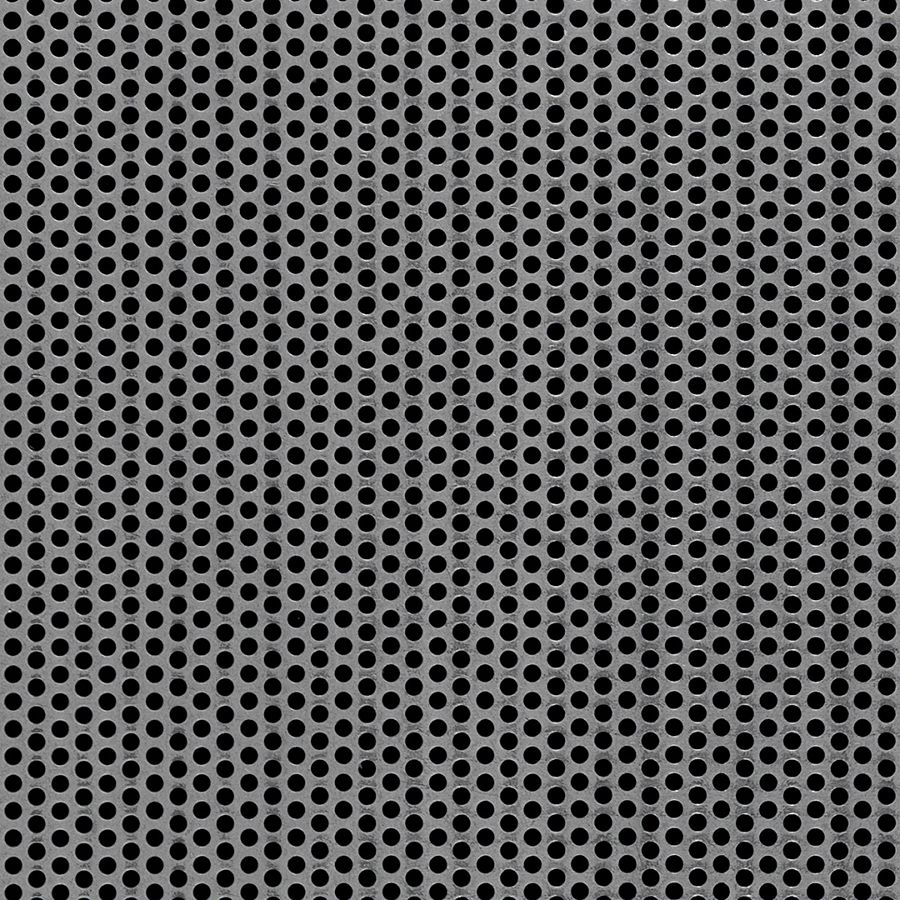 "McNICHOLS® Perforated  Metal Round, Carbon Steel, Cold Rolled, 24 Gauge (.0239"" Thick), 1/8"" Round on 3/16"" Staggered Centers, 40% Open Area"