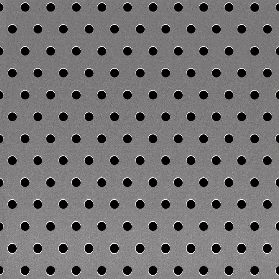 "McNICHOLS® Perforated Metal Round, Carbon Steel, Cold Rolled, 18 Gauge (.0478"" Thick), 3/16"" Round on 1/2"" Reverse Staggered Centers, 13% Open Area"