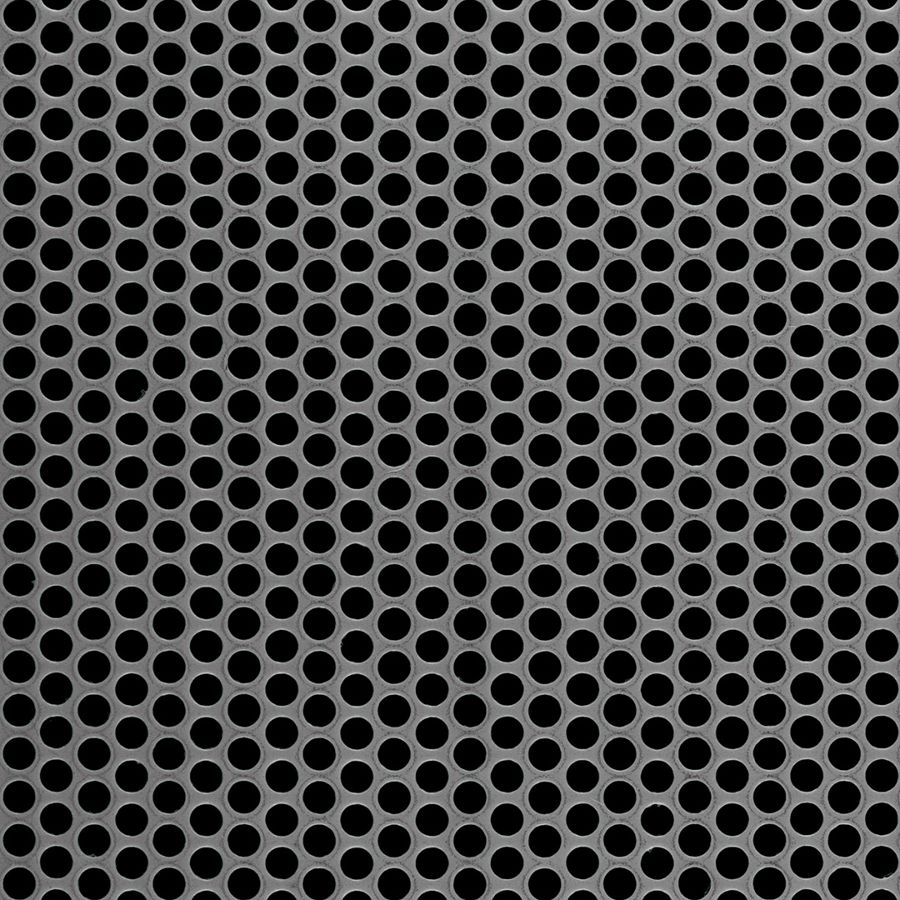 "McNICHOLS® Perforated Metal Round, Carbon Steel, HRPO, 14 Gauge (.0747"" Thick), 3/16"" Round on 1/4"" Staggered Centers, 51% Open Area"