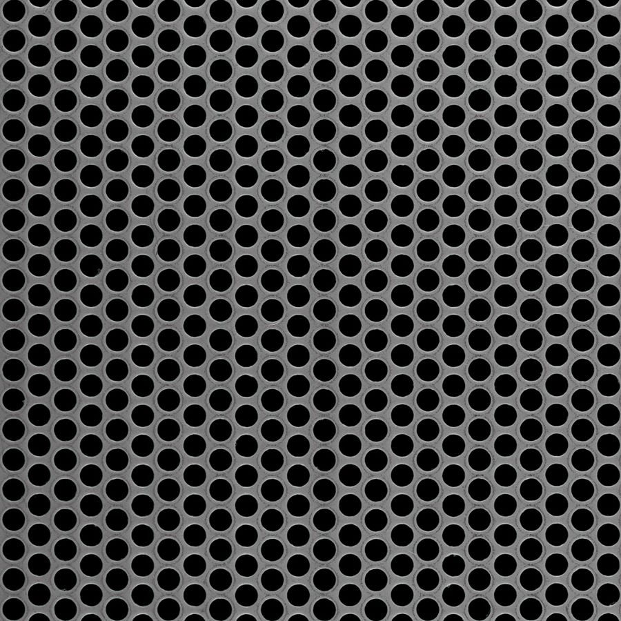 "McNICHOLS® Perforated  Metal Round, Carbon Steel, Cold Rolled, 22 Gauge (.0299"" Thick), 3/16"" Round on 1/4"" Staggered Centers, 51% Open Area"