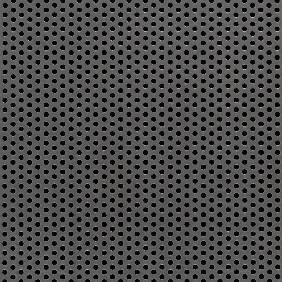 "McNICHOLS® Perforated Metal Round, Carbon Steel, HRPO, 14 Gauge (.0747"" Thick), 3/32"" Round on 3/16"" Staggered Centers, 23% Open Area"