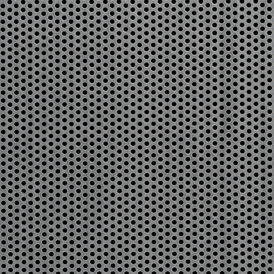 "McNICHOLS® Perforated  Metal Round, Carbon Steel, HRPO, 14 Gauge (.0747"" Thick), 3/32"" Round on 5/32"" Staggered Centers, 33% Open Area"