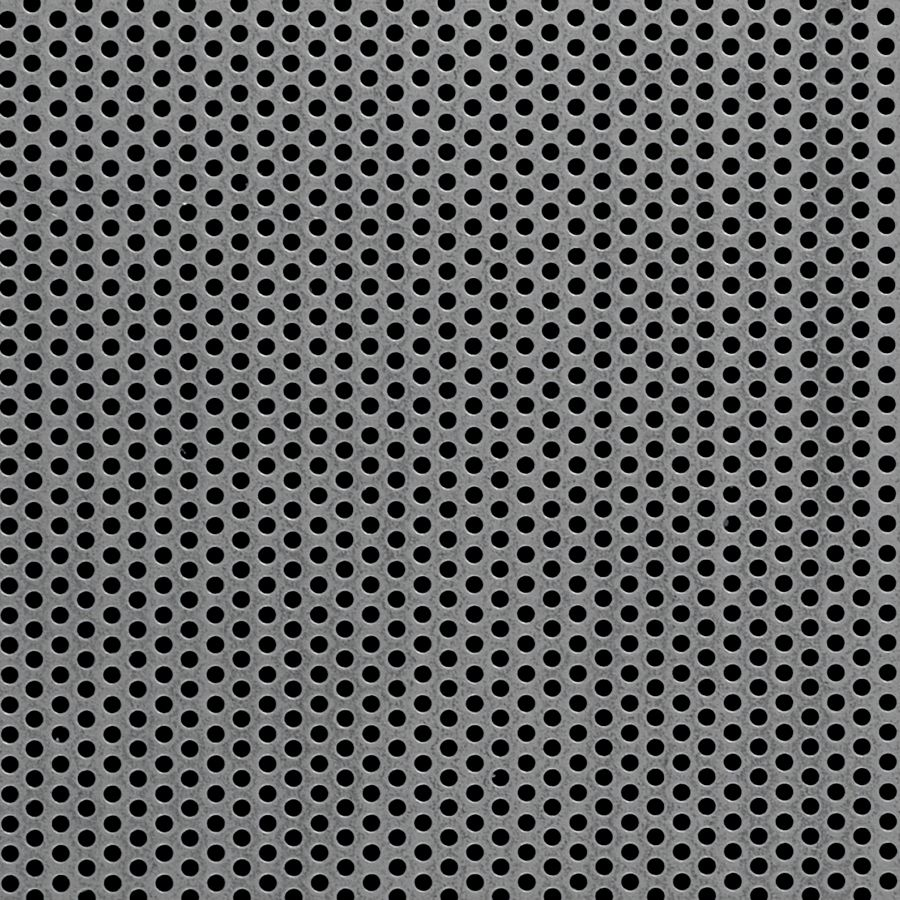 "McNICHOLS® Perforated Metal Round, Carbon Steel, Cold Rolled, 22 Gauge (.0299"" Thick), 3/32"" Round on 5/32"" Staggered Centers, 33% Open Area"