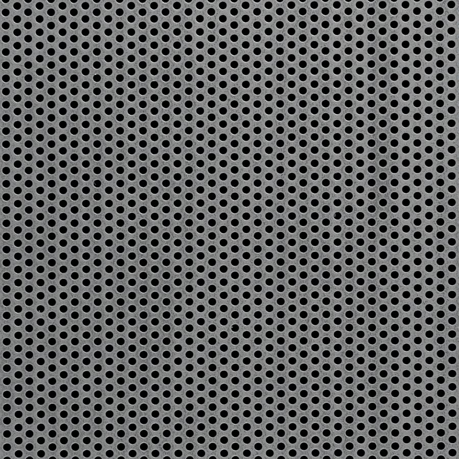 "McNICHOLS® Perforated  Metal Round, Carbon Steel, Cold Rolled, 24 Gauge (.0239"" Thick), 3/32"" Round on 5/32"" Staggered Centers, 33% Open Area"