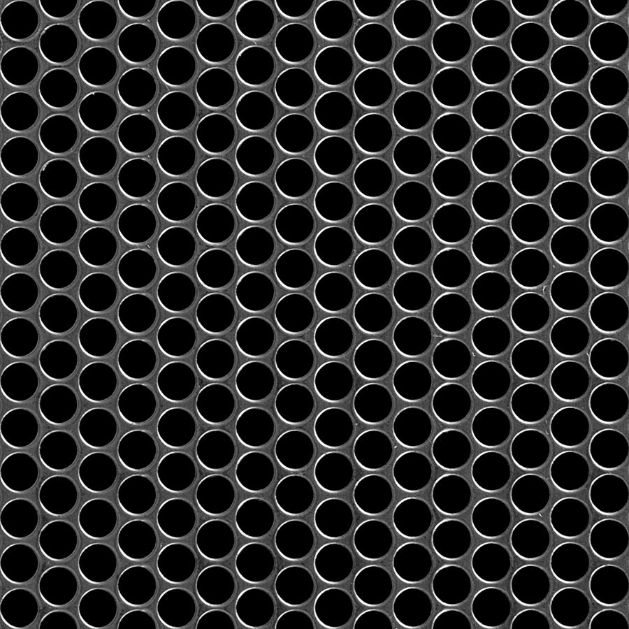 "McNICHOLS® Perforated  Metal Round, Carbon Steel, Cold Rolled, 16 Gauge (.0598"" Thick), 5/16"" Round on 3/8"" Staggered Centers, 63% Open Area"