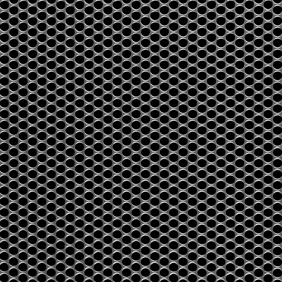"McNICHOLS® Perforated  Metal Round, Carbon Steel, Cold Rolled, 16 Gauge (.0598"" Thick), 5/32"" Round on 3/16"" Staggered Centers, 63% Open Area"