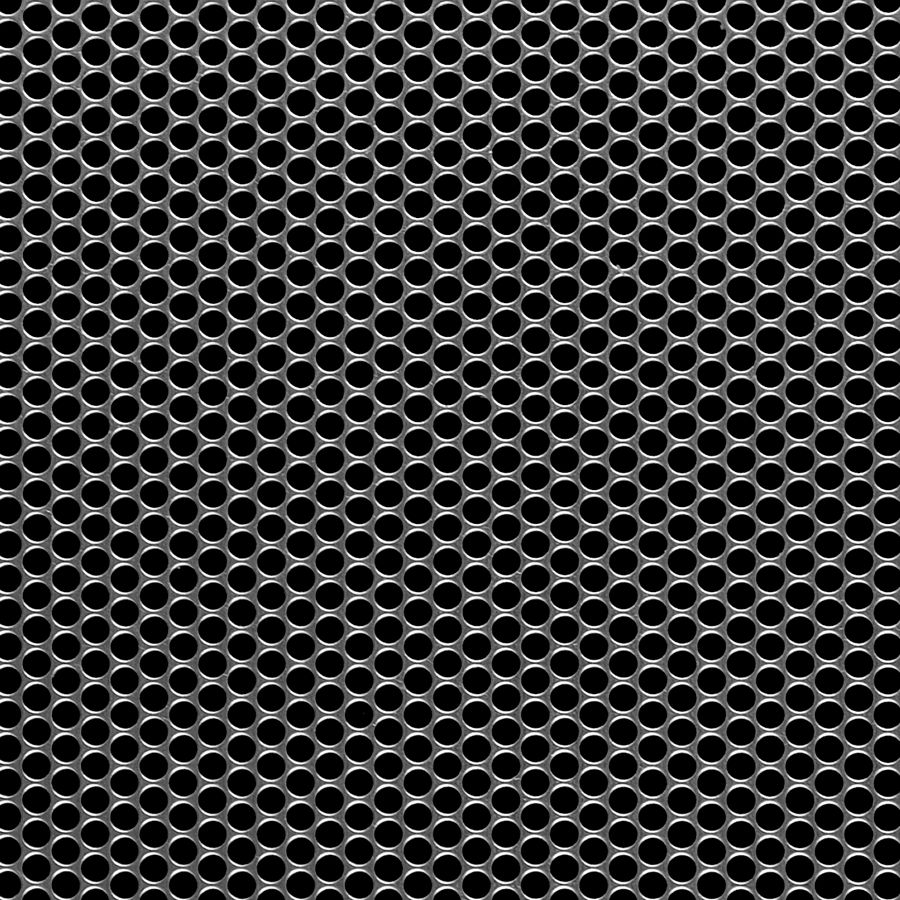 "McNICHOLS® Perforated Metal Round, Carbon Steel, Cold Rolled, 18 Gauge (.0478"" Thick), 5/32"" Round on 3/16"" Staggered Centers, 63% Open Area"