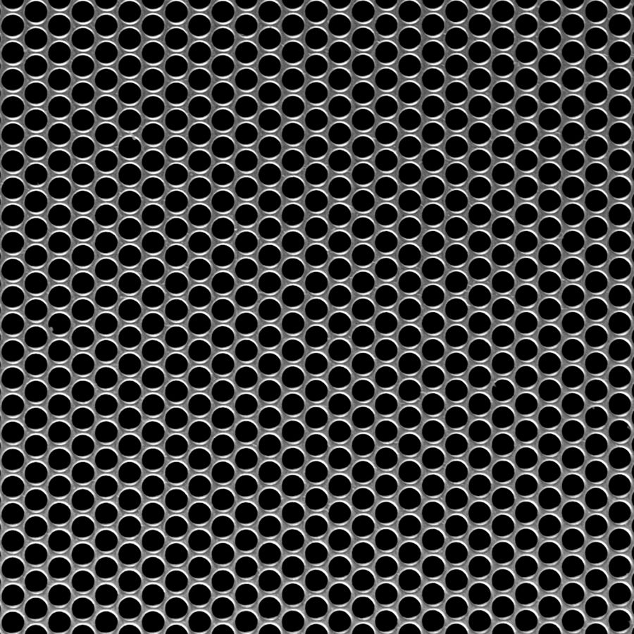 "McNICHOLS® Perforated Metal Round, Carbon Steel, Cold Rolled, 20 Gauge (.0359"" Thick), 5/32"" Round on 3/16"" Staggered Centers, 63% Open Area"