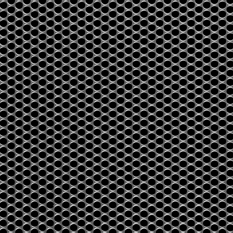 "McNICHOLS® Perforated Metal Round, Carbon Steel, Cold Rolled, 22 Gauge (.0299"" Thick), 5/32"" Round on 3/16"" Staggered Centers, 63% Open Area"