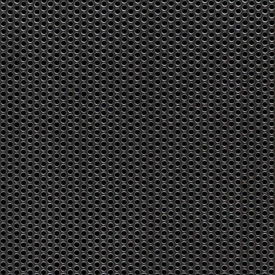 "McNICHOLS® Perforated Metal Round, Carbon Steel, Cold Rolled, 16 Gauge (.0598"" Thick), 5/64"" Round on 1/8"" Staggered Centers, 35% Open Area"