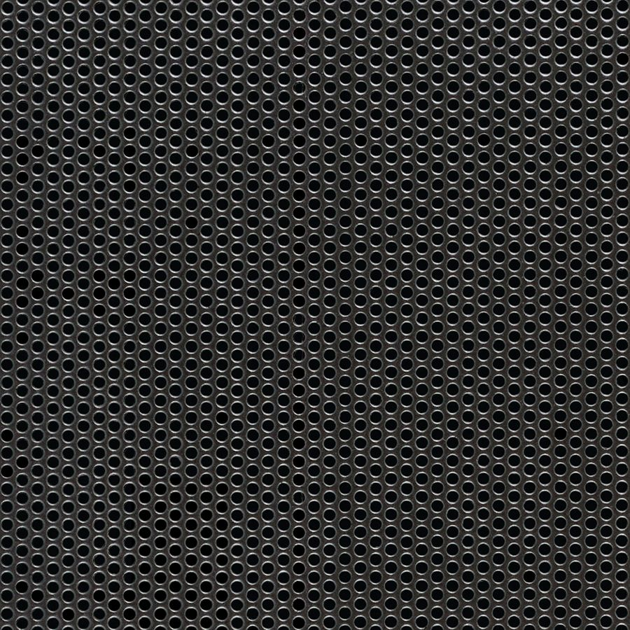 "McNICHOLS® Perforated  Metal Round, Carbon Steel, Cold Rolled, 18 Gauge (.0478"" Thick), 5/64"" Round on 1/8"" Staggered Centers, 35% Open Area"