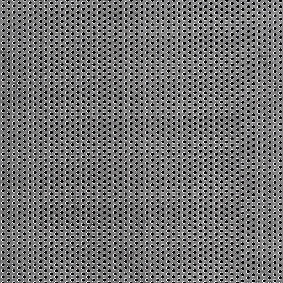 "McNICHOLS® Perforated  Metal Round, Aluminum, Type 3003-H14, .0320"" Thick (20 Gauge), 1/16"" Round on 1/8"" Staggered Centers, 23% Open Area"