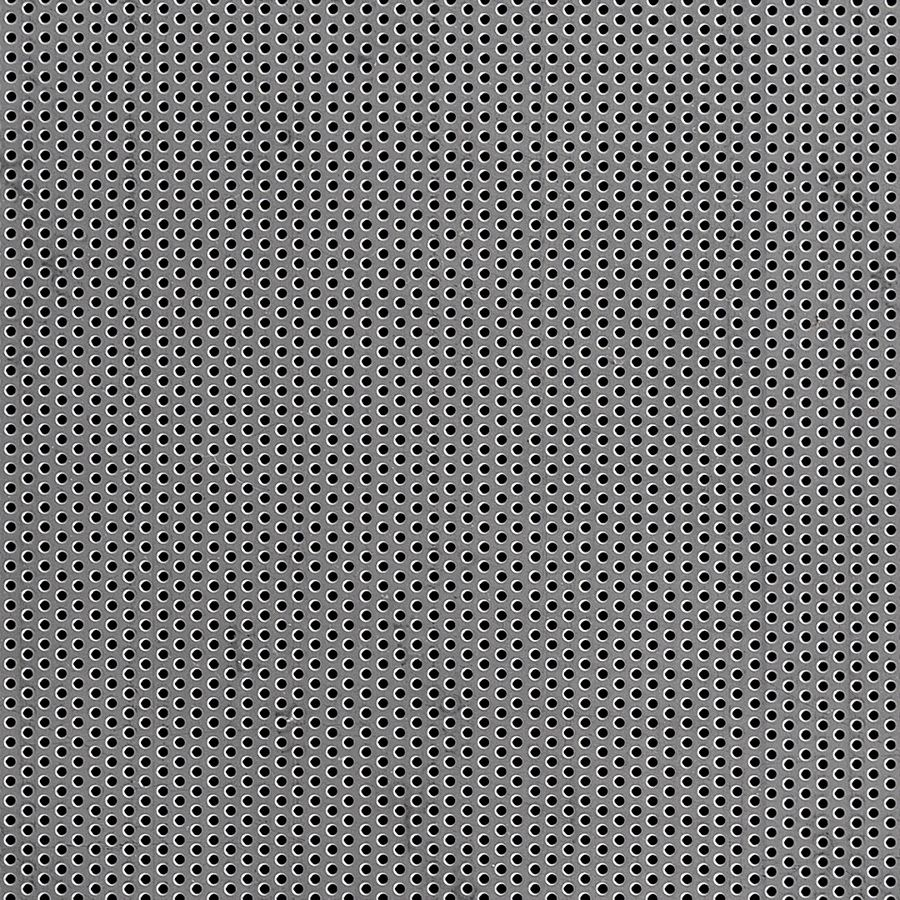 "McNICHOLS® Perforated  Metal Round, Aluminum, Type 3003-H14, .0400"" Thick (18 Gauge), 1/16"" Round on 1/8"" Staggered Centers, 23% Open Area"
