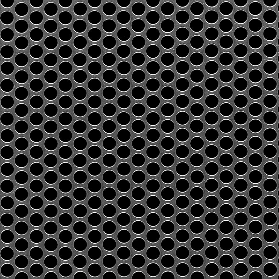 "McNICHOLS® Perforated Metal Round, Aluminum, Alloy 3003-H14, .1250"" Thick (8 Gauge), 1/4"" Round on 5/16"" Staggered Centers, 58% Open Area"