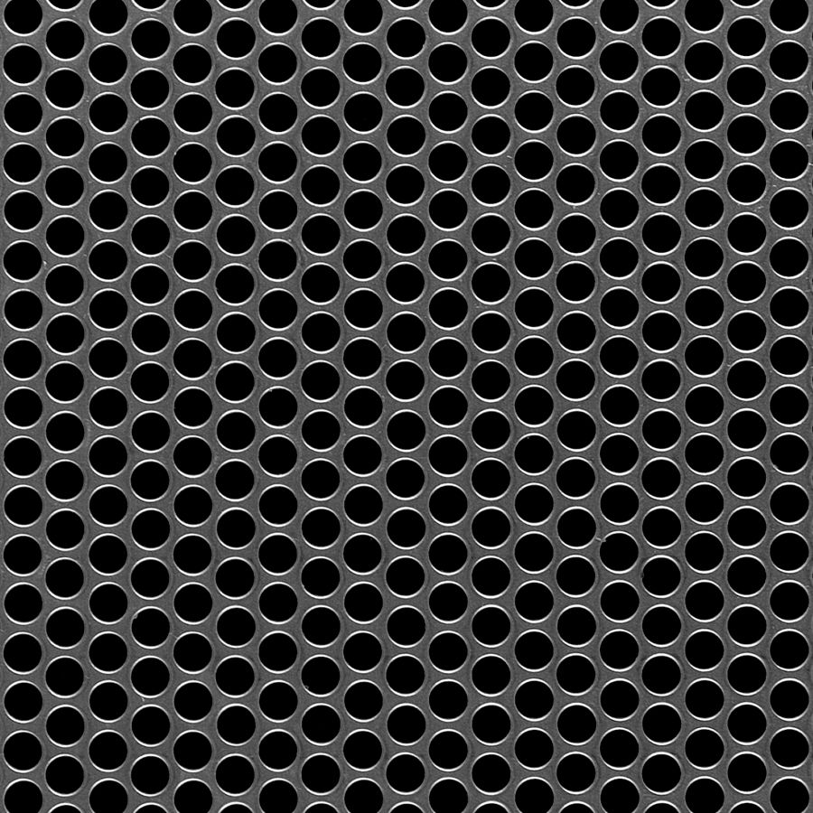 "McNICHOLS® Perforated  Metal Round, Aluminum, Alloy 3003-H14, .0630"" Thick (14 Gauge), 1/4"" Round on 5/16"" Staggered Centers, 58% Open Area"