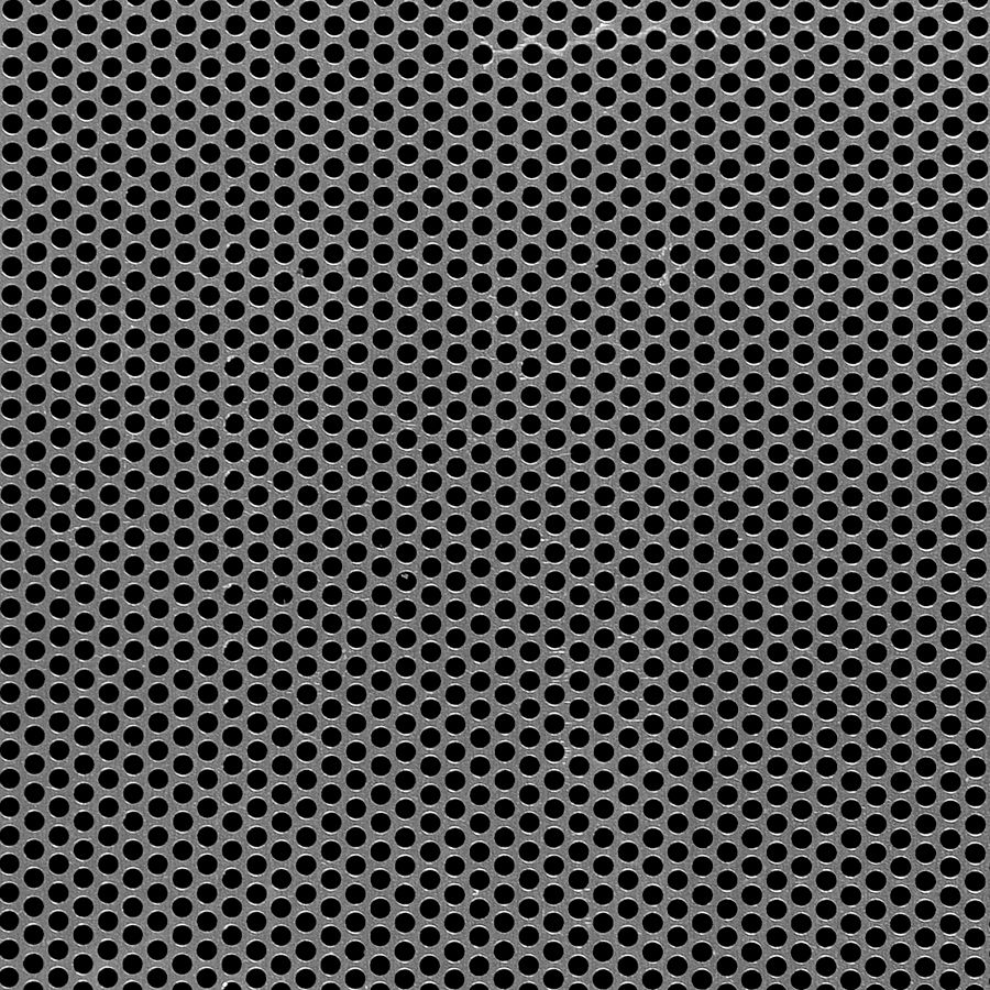 "McNICHOLS® Perforated Metal Round, Aluminum, Alloy 3003-H14, .0320"" Thick (20 Gauge), 0.117"" Round on 0.156"" Staggered Centers, 51% Open Area"