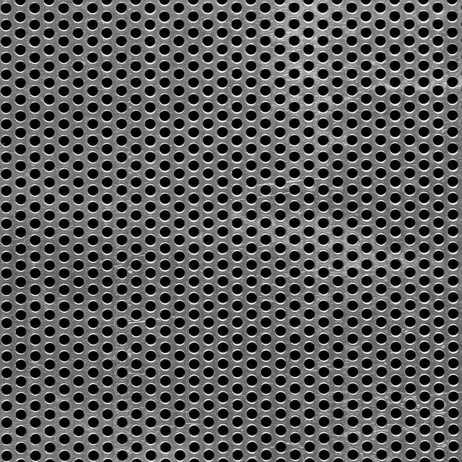 "McNICHOLS® Perforated  Metal Round, Aluminum, Type 3003-H14, .1250"" Thick (8 Gauge), 1/8"" Round on 3/16"" Staggered Centers, 40% Open Area"