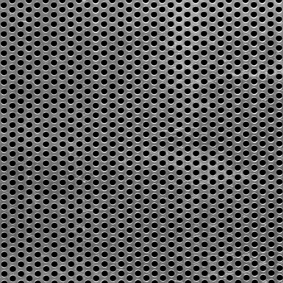 "McNICHOLS® Perforated  Metal Round, Aluminum, Type 3003-H14, .0320"" Thick (20 Gauge), 1/8"" Round on 3/16"" Staggered Centers, 40% Open Area"