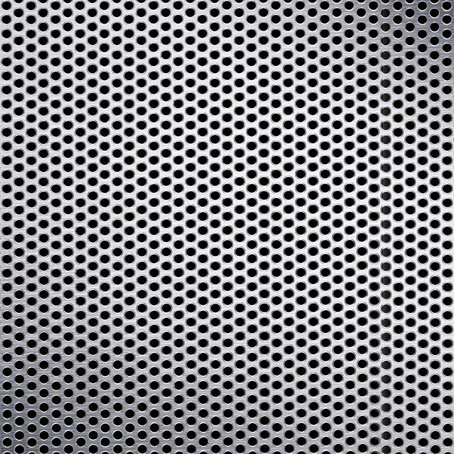 "McNICHOLS® Perforated Metal Round, Aluminum, Alloy 3003-H14, .0500"" Thick (16 Gauge), 1/8"" Round on 3/16"" Staggered Centers, 40% Open Area"