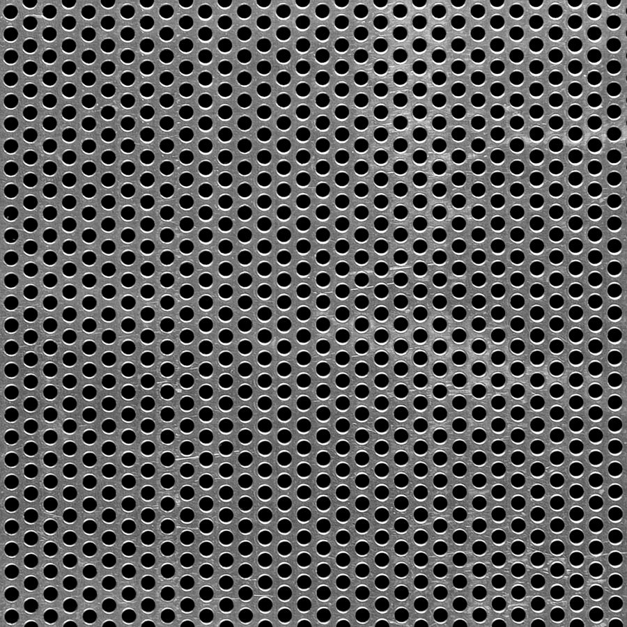 "McNICHOLS® Perforated Metal Round, Aluminum, Alloy 3003-H14, .0630"" Thick (14 Gauge), 1/8"" Round on 3/16"" Staggered Centers, 40% Open Area"