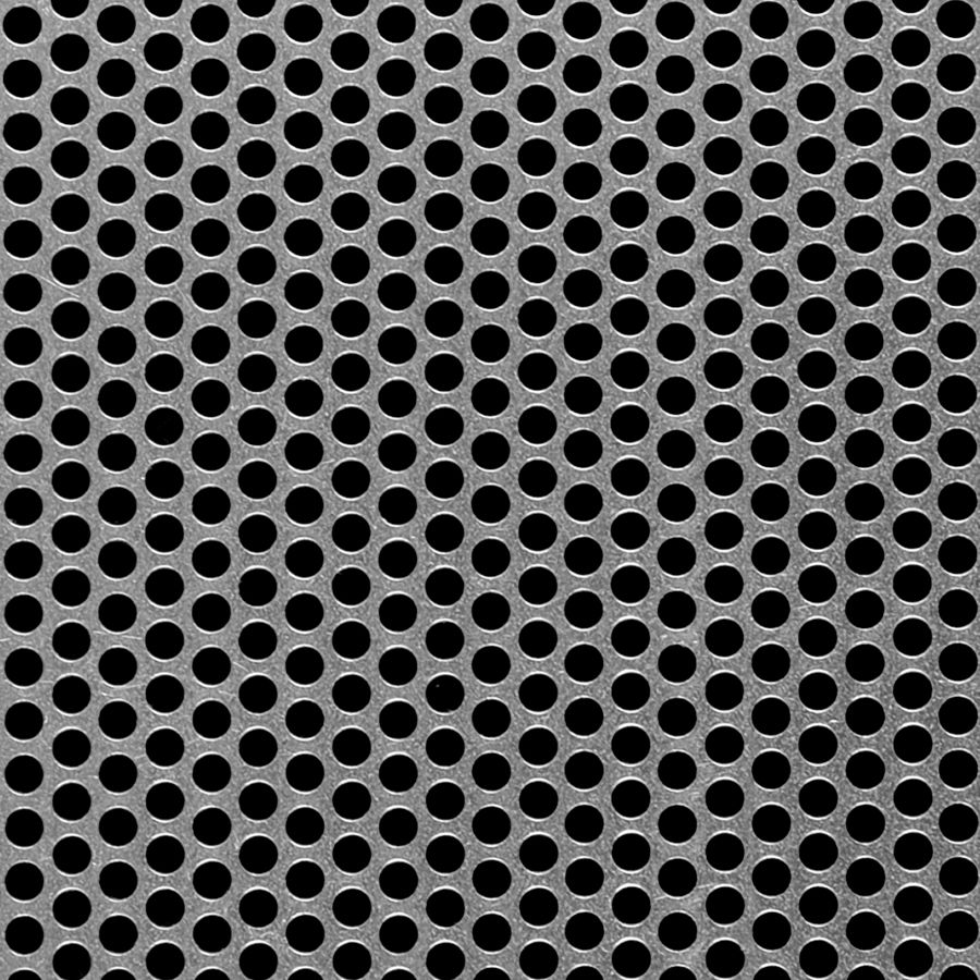 "McNICHOLS® Perforated  Metal Round, Aluminum, Type 3003-H14, .0500"" Thick (16 Gauge), 3/16"" Round on 1/4"" Staggered Centers, 51% Open Area"