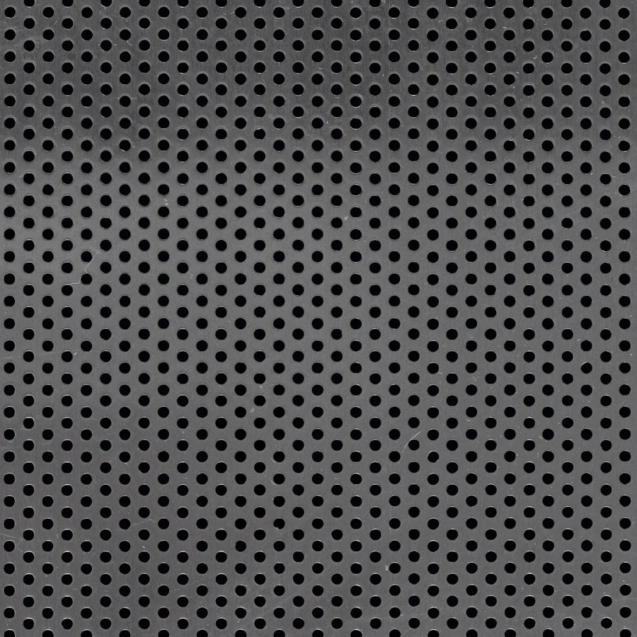 "McNICHOLS® Perforated  Metal Round, Aluminum, Type 3003-H14, .0500"" Thick (16 Gauge), 3/32"" Round on 3/16"" Staggered Centers, 23% Open Area"