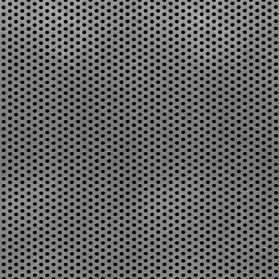 "McNICHOLS® Perforated Metal Round, Aluminum, Alloy 3003-H14, .0500"" Thick (16 Gauge), 3/32"" Round on 5/32"" Staggered Centers, 33% Open Area"