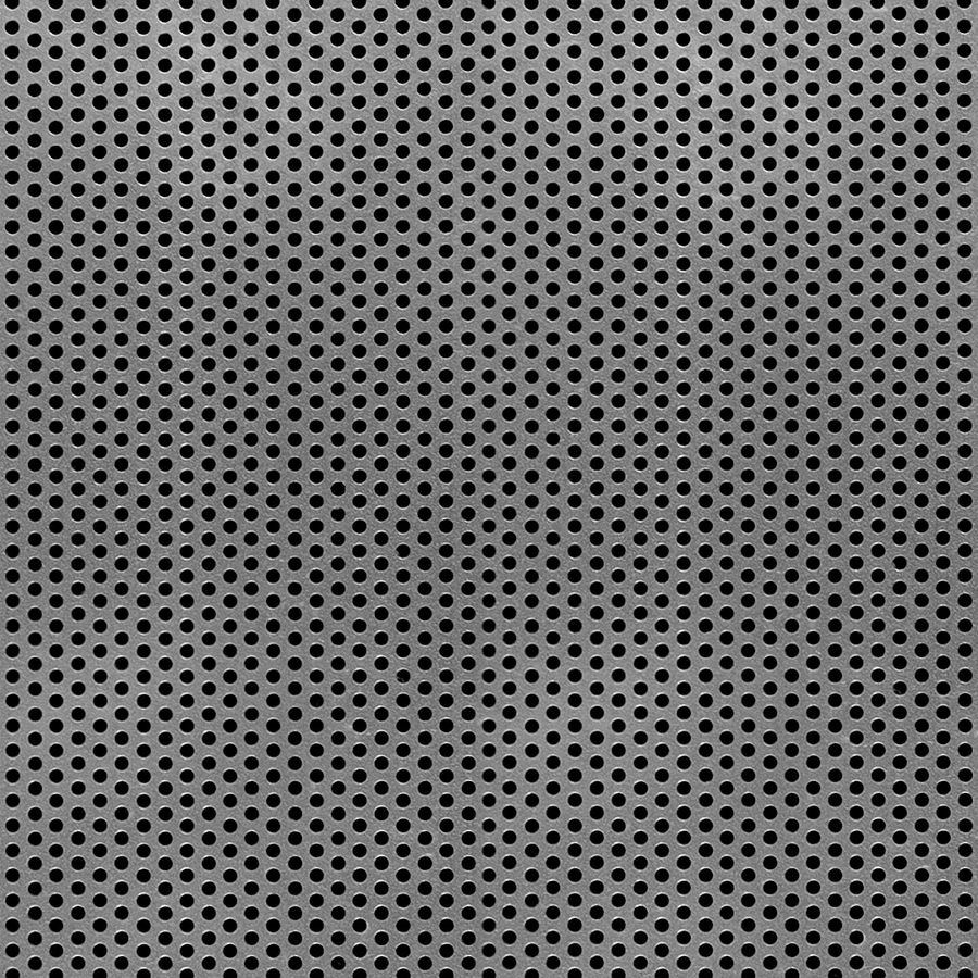 "McNICHOLS® Perforated  Metal Round, Aluminum, Alloy 3003-H14, .0630"" Thick (14 Gauge), 3/32"" Round on 5/32"" Staggered Centers, 33% Open Area"