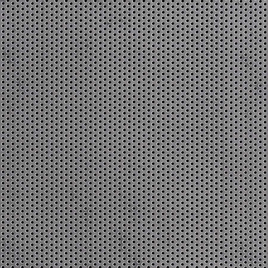 "McNICHOLS® Perforated Metal Round, Stainless Steel, Type 304, 18 Gauge (.0500"" Thick), 1/16"" Round on 1/8"" Staggered Centers, 23% Open Area"
