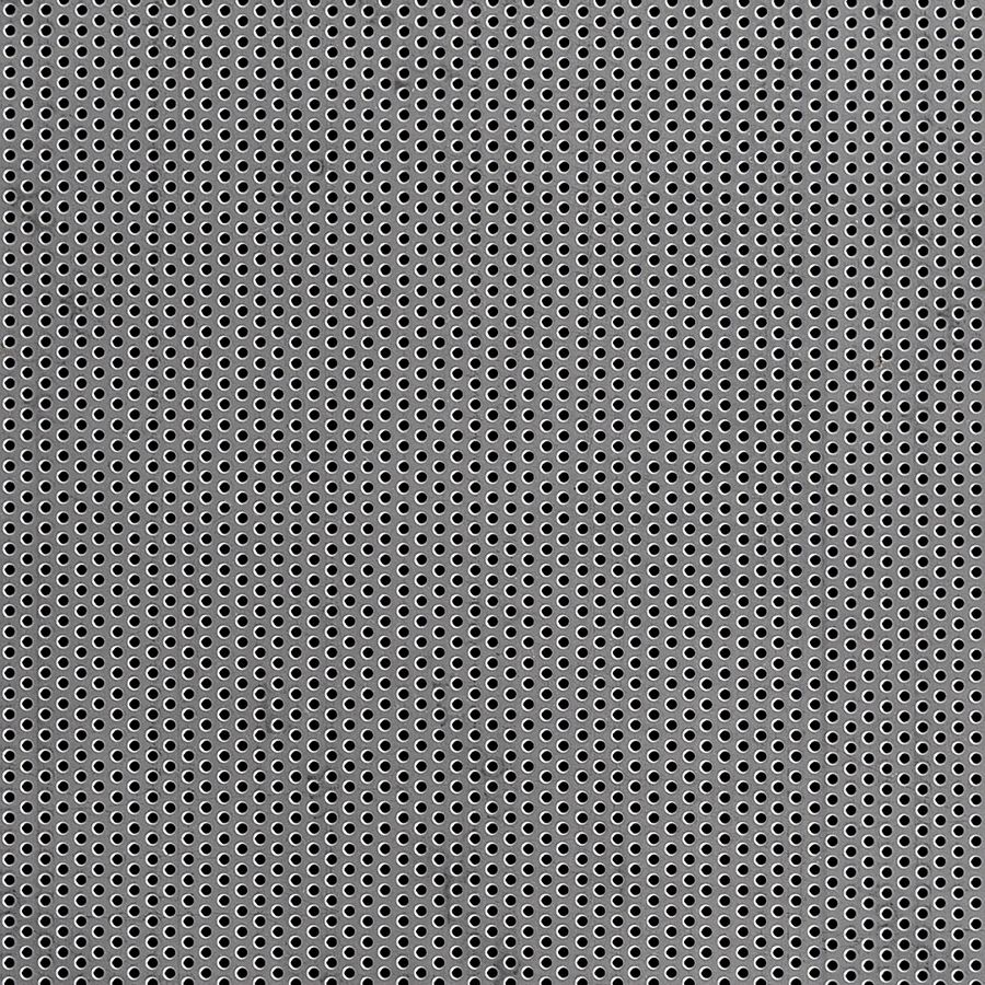 "McNICHOLS® Perforated Metal Round, Stainless Steel, Type 304, 20 Gauge (.0375"" Thick), 1/16"" Round on 1/8"" Staggered Centers, 23% Open Area"