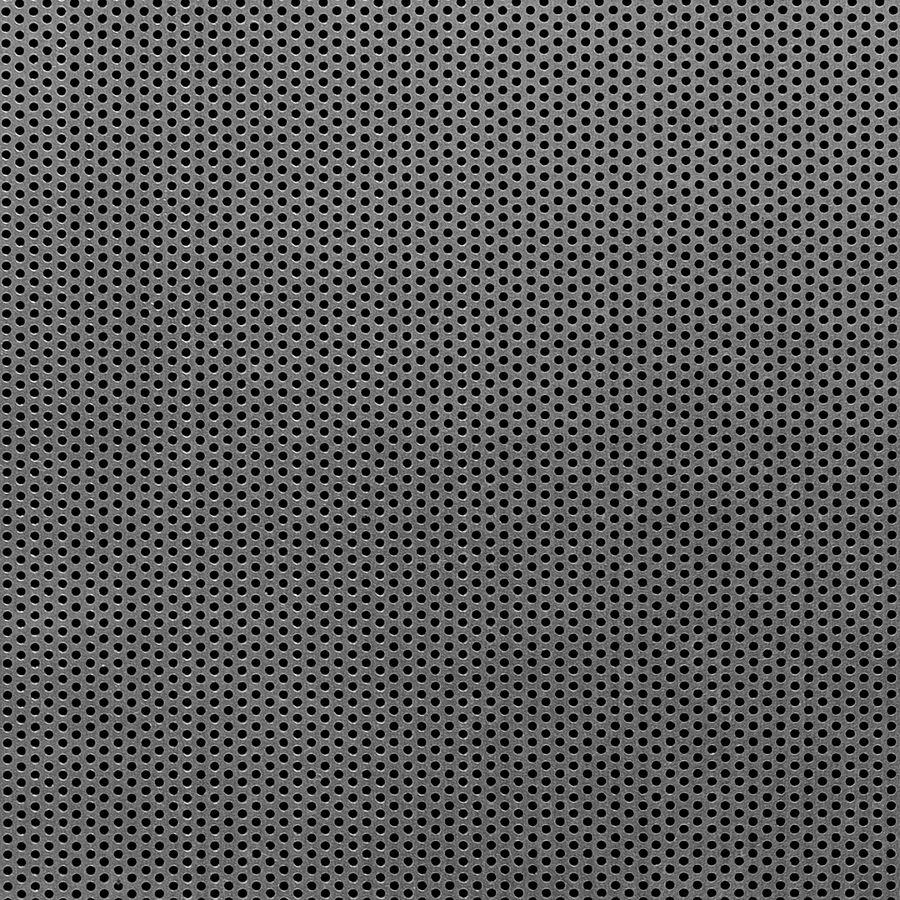 "McNICHOLS® Perforated Metal Round, Stainless Steel, Type 304, 18 Gauge (.0500"" Thick), 1/16"" Round on 7/64"" Staggered Centers, 30% Open Area"
