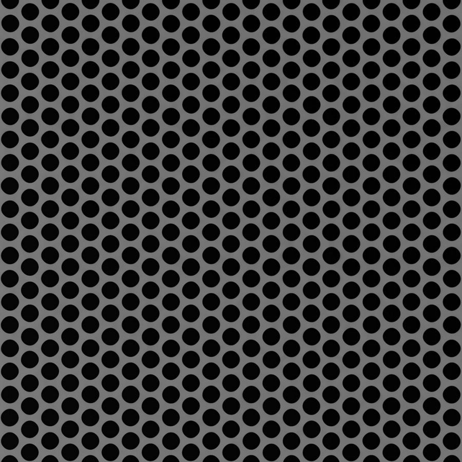 "McNICHOLS® Perforated Metal Round, Stainless Steel, Type 304, 20 Gauge (.0375"" Thick), 1/4"" Round on 5/16"" Staggered Centers, 58% Open Area"