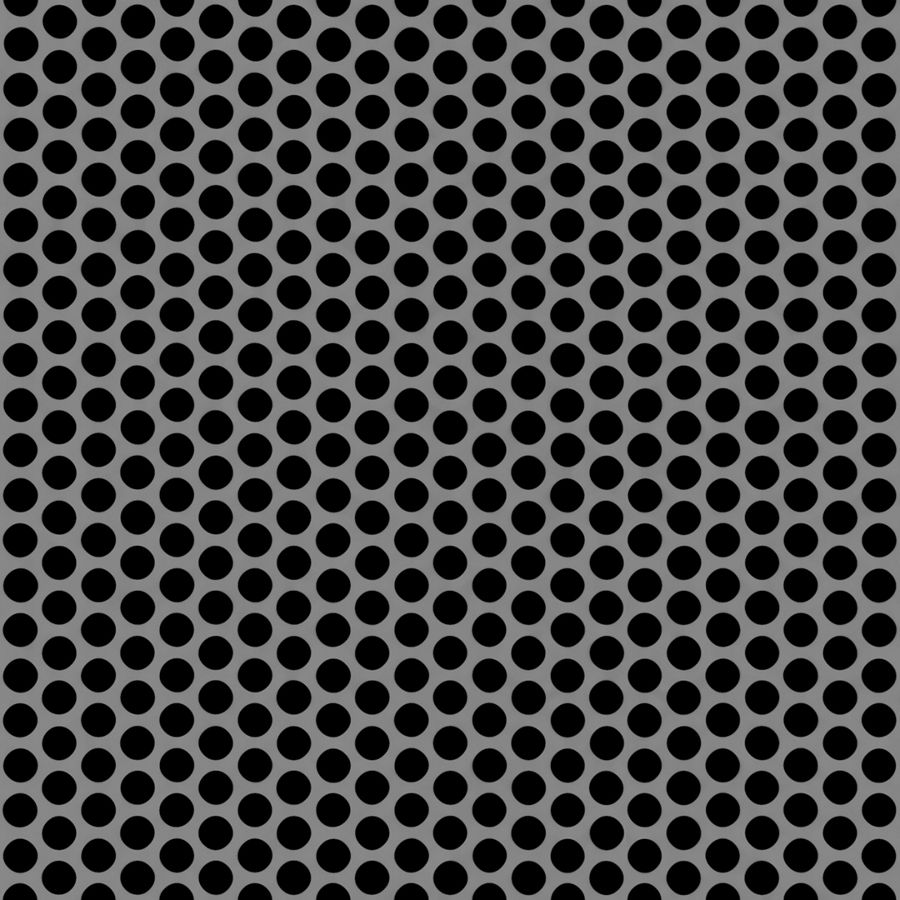 "McNICHOLS® Perforated  Metal Round, Stainless Steel, Type 304, 22 Gauge (.0291"" Thick), 1/4"" Round on 5/16"" Staggered Centers, 58% Open Area"