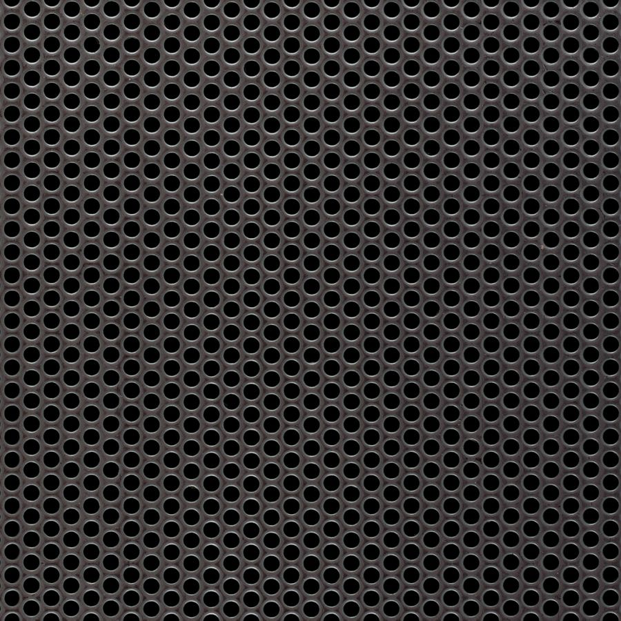 "McNICHOLS® Perforated Metal Round, Stainless Steel, Type 304, 14 Gauge (.0781"" Thick), 1/8"" Round on 3/16"" Staggered Centers, 40% Open Area"
