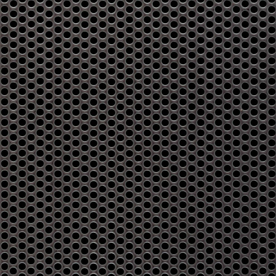 "McNICHOLS® Perforated Metal Round, Stainless Steel, Type 304, 16 Gauge (.0625"" Thick), 1/8"" Round on 3/16"" Staggered Centers, 40% Open Area"
