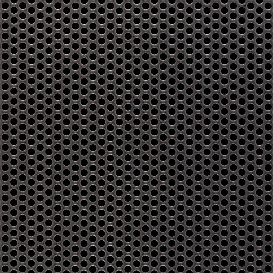 "McNICHOLS® Perforated Metal Round, Stainless Steel, Type 304, 20 Gauge (.0375"" Thick), 1/8"" Round on 3/16"" Staggered Centers, 40% Open Area"