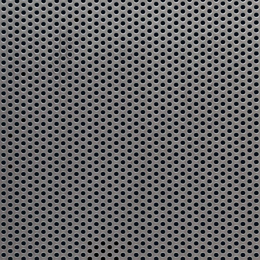 "McNICHOLS® Perforated Metal Round, Stainless Steel, Type 304, 16 Gauge (.0625"" Thick), 3/32"" Round on 5/32"" Staggered Centers, 33% Open Area"