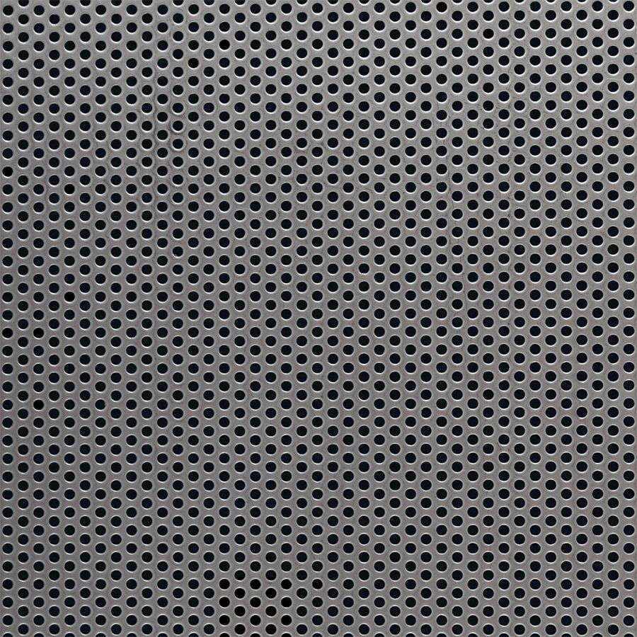 "McNICHOLS® Perforated Metal Round, Stainless Steel, Type 304, 20 Gauge (.0375"" Thick), 3/32"" Round on 5/32"" Staggered Centers, 33% Open Area"