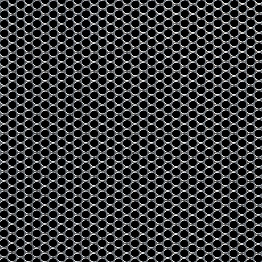 "McNICHOLS® Perforated  Metal Round, Stainless Steel, Type 304, 20 Gauge (.0355"" Thick), 5/32"" Round on 3/16"" Staggered Centers, 63% Open Area"