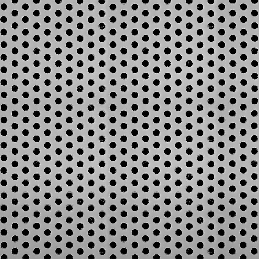"McNICHOLS® Perforated  Metal Round, PLASTIPERF™, Plastic, Polypropylene, 11 Gauge (.1196"" Thick), 3/16"" Round on 5/16"" Staggered Centers, 33% Open Area"
