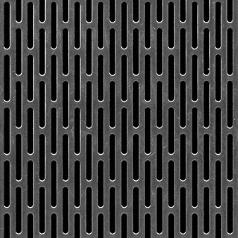 Mcnichols Perforated Metal Slotted Carbon Steel Cold Rolled 16 Gauge