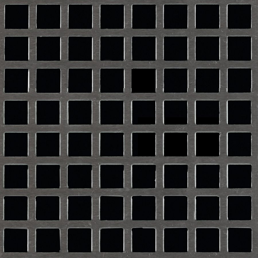"McNICHOLS® Perforated Metal Square, Carbon Steel, Cold Rolled, 16 Gauge (.0598"" Thick), 3/8"" Square on 1/2"" Straight Centers, 56% Open Area"