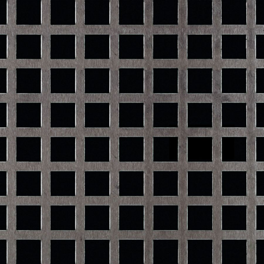 "McNICHOLS® Perforated Metal Designer Perforated, Square, LATTICE 0853, Aluminum, Alloy 3003-H14, .1250"" Thick (8 Gauge), 1/2"" Square on 11/16"" Straight Centers, 53% Open Area"
