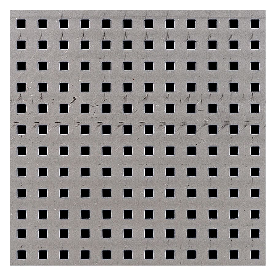 "McNICHOLS® Perforated Metal Square, Aluminum, Alloy 3003-H14, .0500"" Thick (16 Gauge), 0.200"" Square on 0.500"" Straight Centers, 16% Open Area"