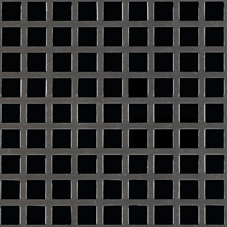"McNICHOLS® Perforated Metal Square, Aluminum, Alloy 3003-H14, .0320"" Thick (20 Gauge), 3/8"" Square on 1/2"" Straight Centers, 56% Open Area"